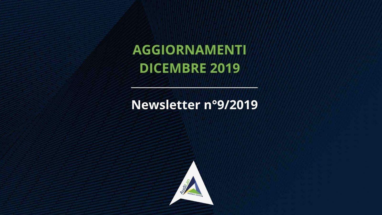 Aggiornamenti Dicembre 2019